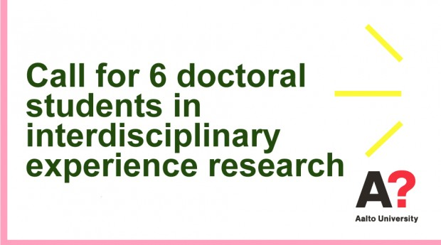 Call for doctoral students in interdisciplinary experience research