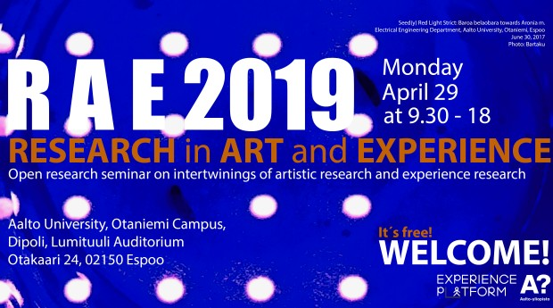Research in Art and Experience (RAE 2019)